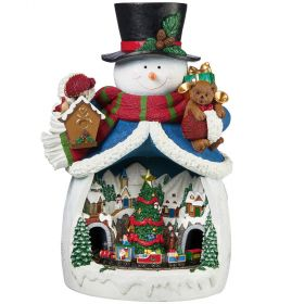 Snowman Christmas Village Musical Light Up Animated