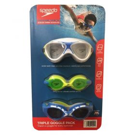 Speedo Junior Swimming Goggles 3 Pack Set-boy