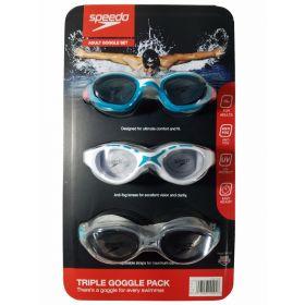 Speedo Adult Swim Goggles 3 Pack-Boys