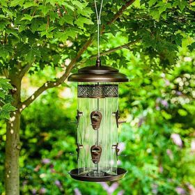 StyleCraft 4 Tube Bird Feeder with 8 Feeder Ports