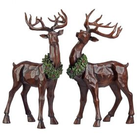 Tabletop Decorative Christmas Reindeer Set of 2