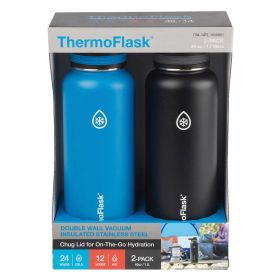 ThermoFlask 1.1L Stainless Steel Insulated Water Bottle 2pack