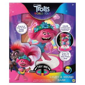 Trolls World Tour Poppy Light and Sound Coin Bank