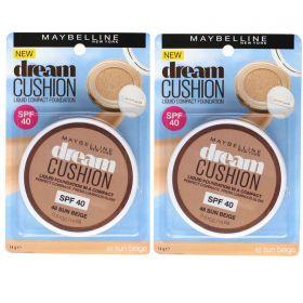 2 X Maybelline 14g DREAM CUSHION FOUNDATION 48 Sun Beige