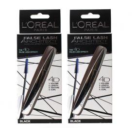2 X Loreal Paris Mascara Lash Architect 4D - Black