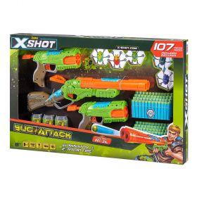 X-Shot Bug Attack 2 Rapid Fire & Eliminator Foam Dart Blaster Combo Pack