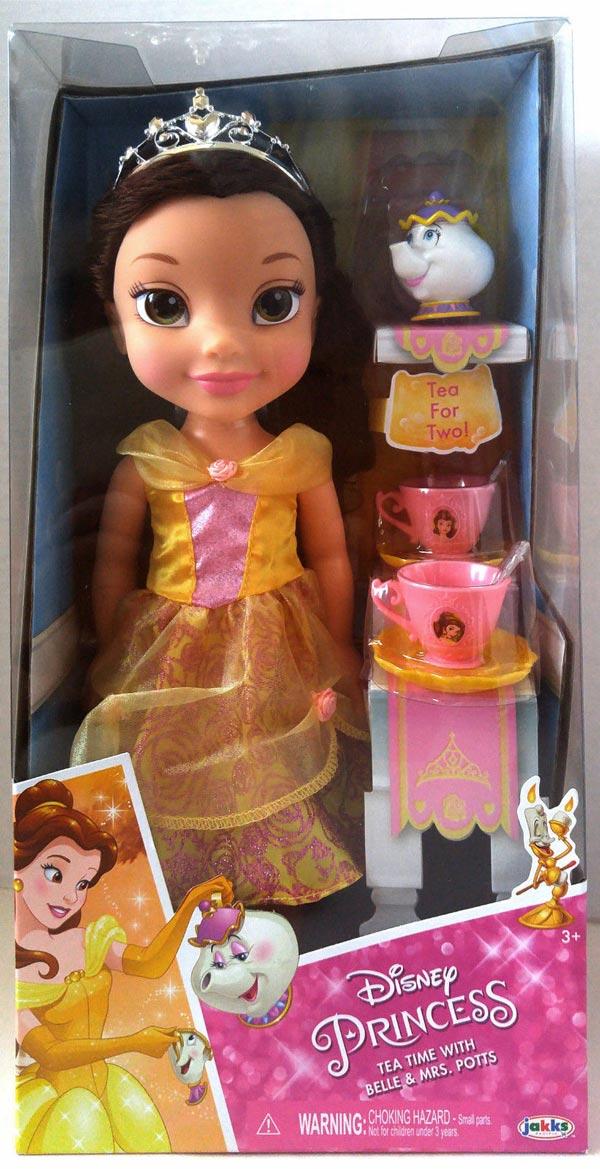 New Disney Princess Toddler Doll Bell Princess Tea time